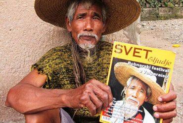 Viktor with his front cover in Svet & Ljudje Magazine
