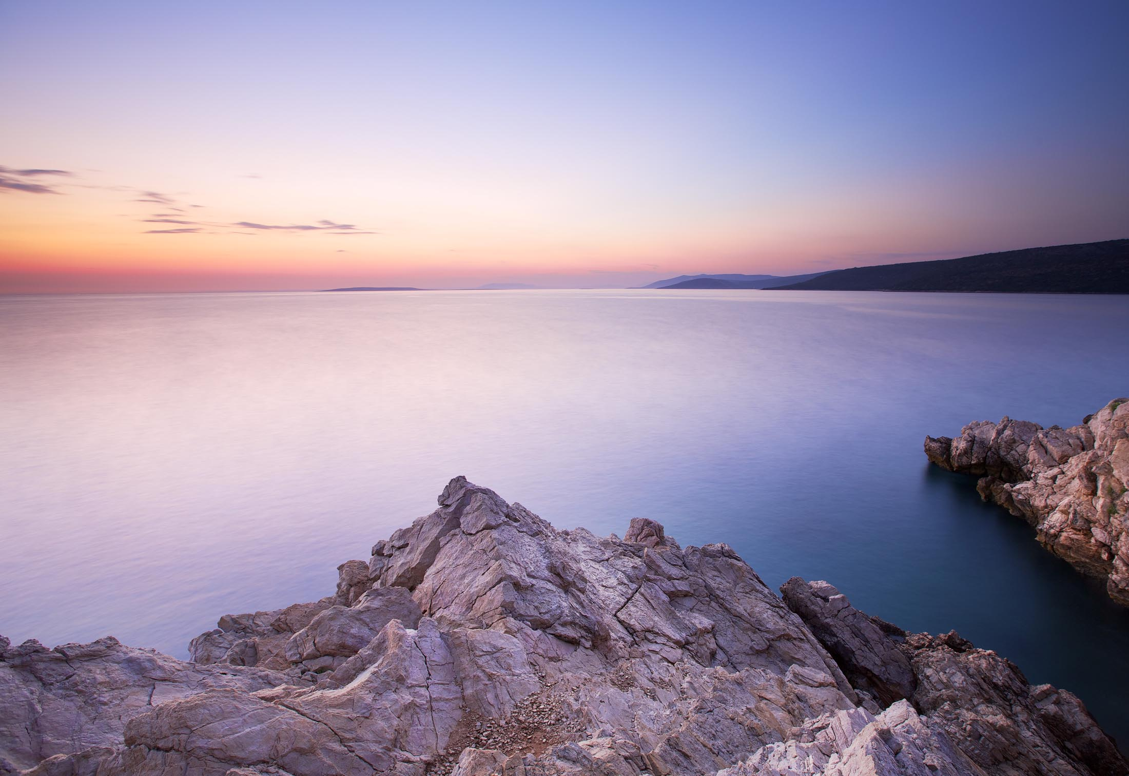 Sunset on Cres Island, Croatia