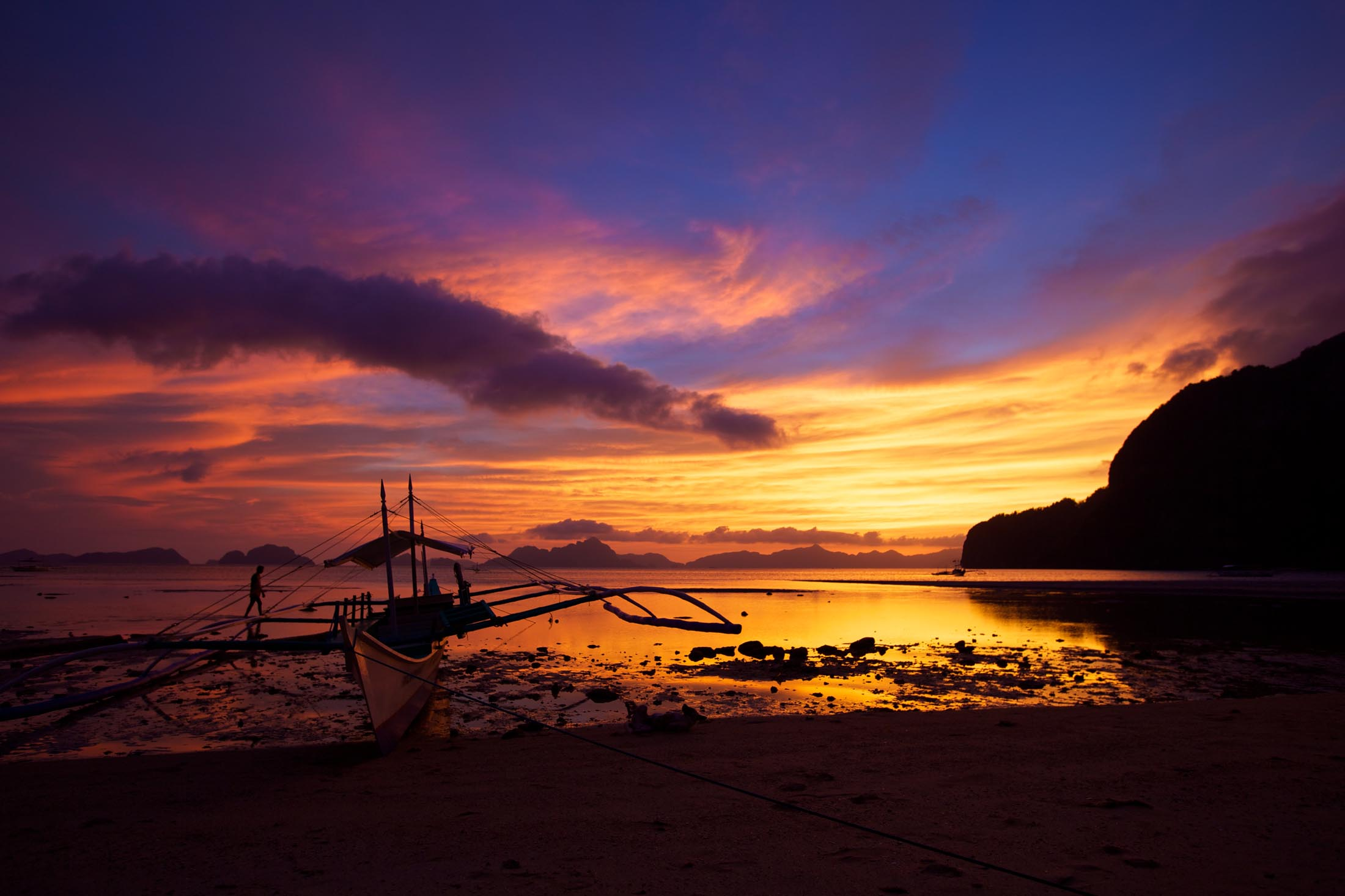 Sunset on Palawan, Philippines