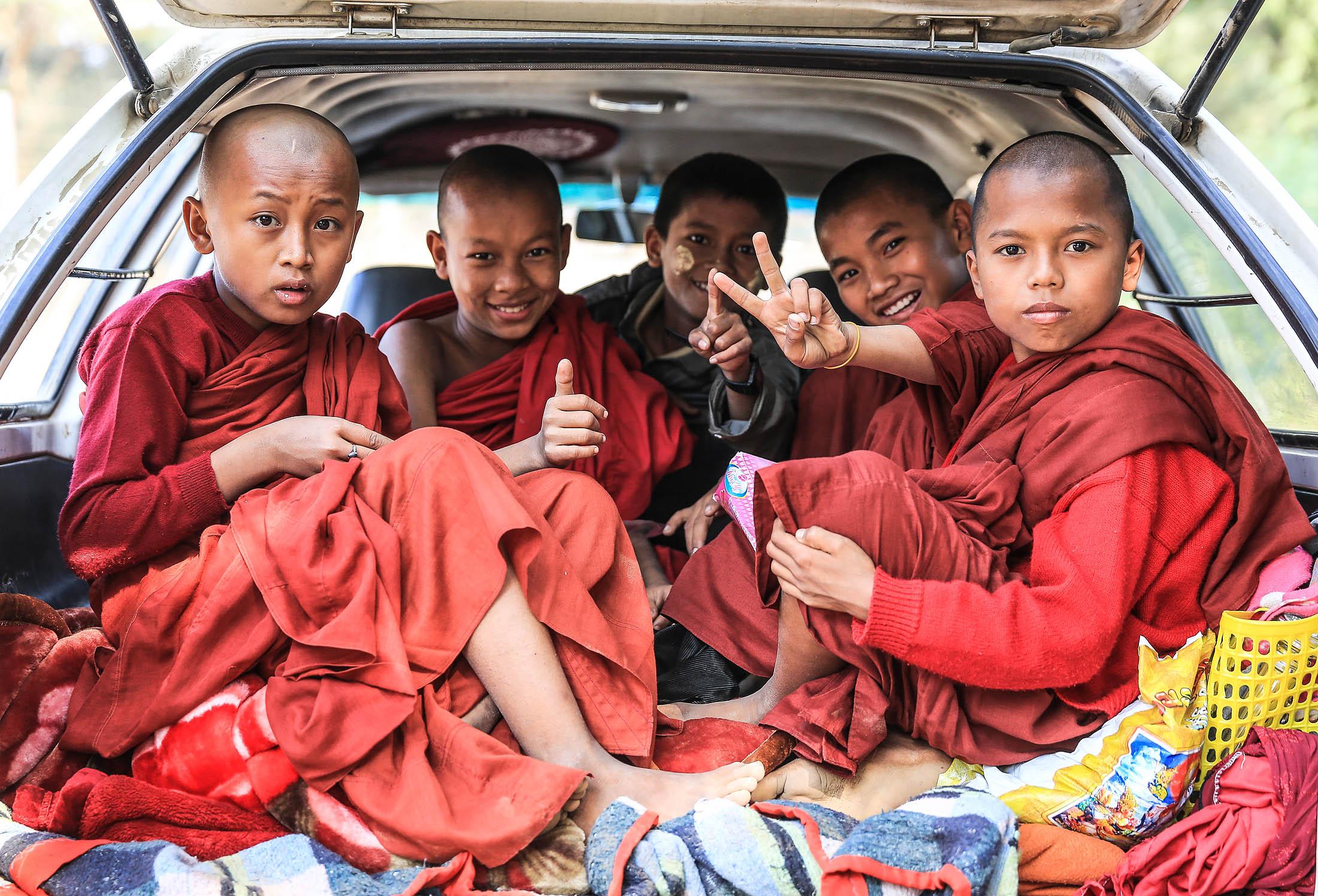 Young monks, Bagan, Myanmar
