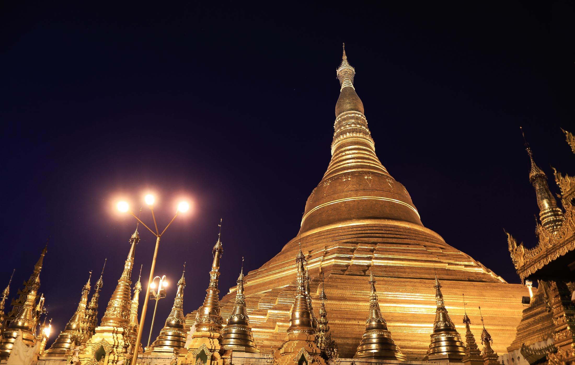 Schwedagon Pagoda, Yangon, Myanamar