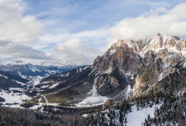 Winter panorama from Dolomites