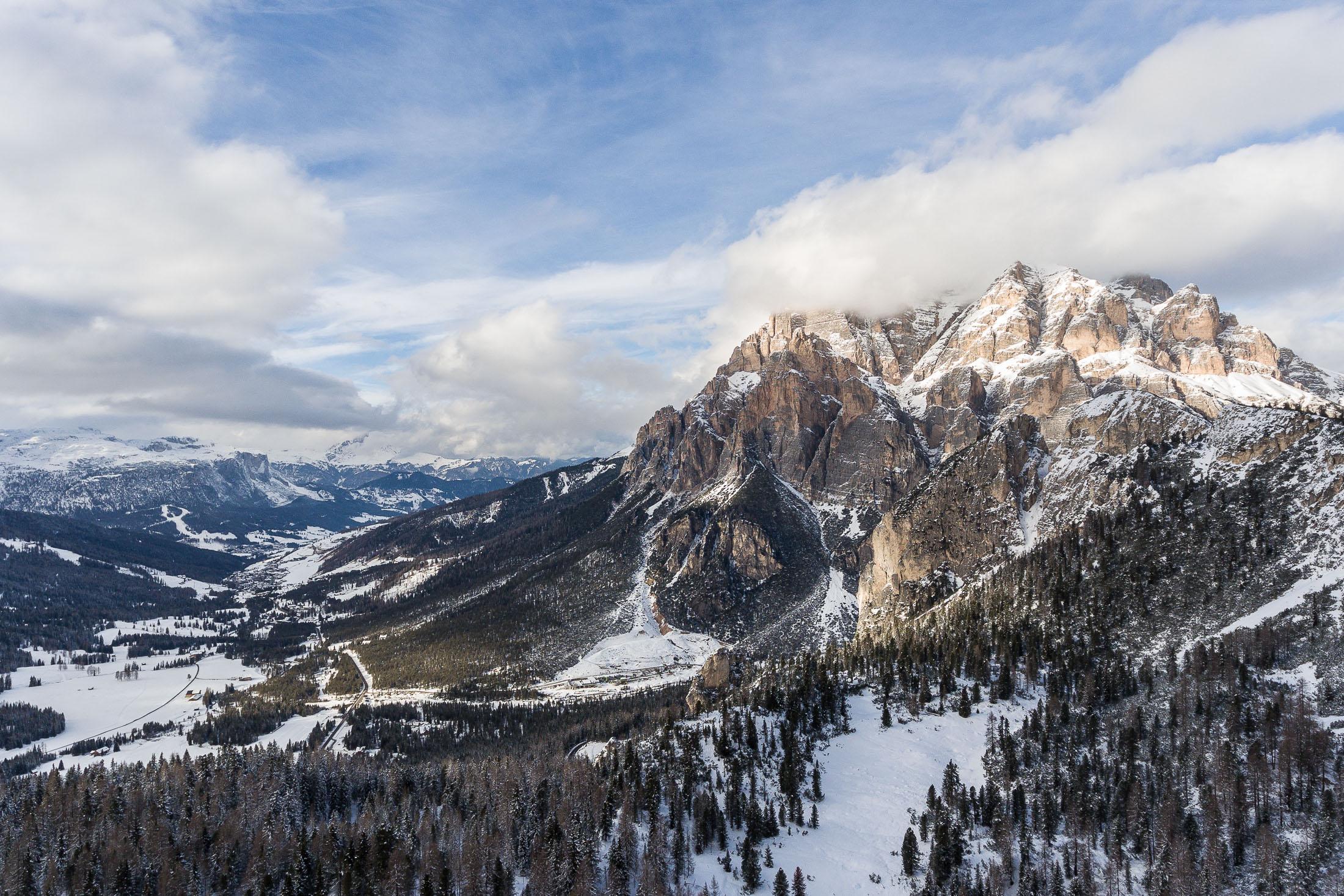 Mountain passes, Dolomites, Italy
