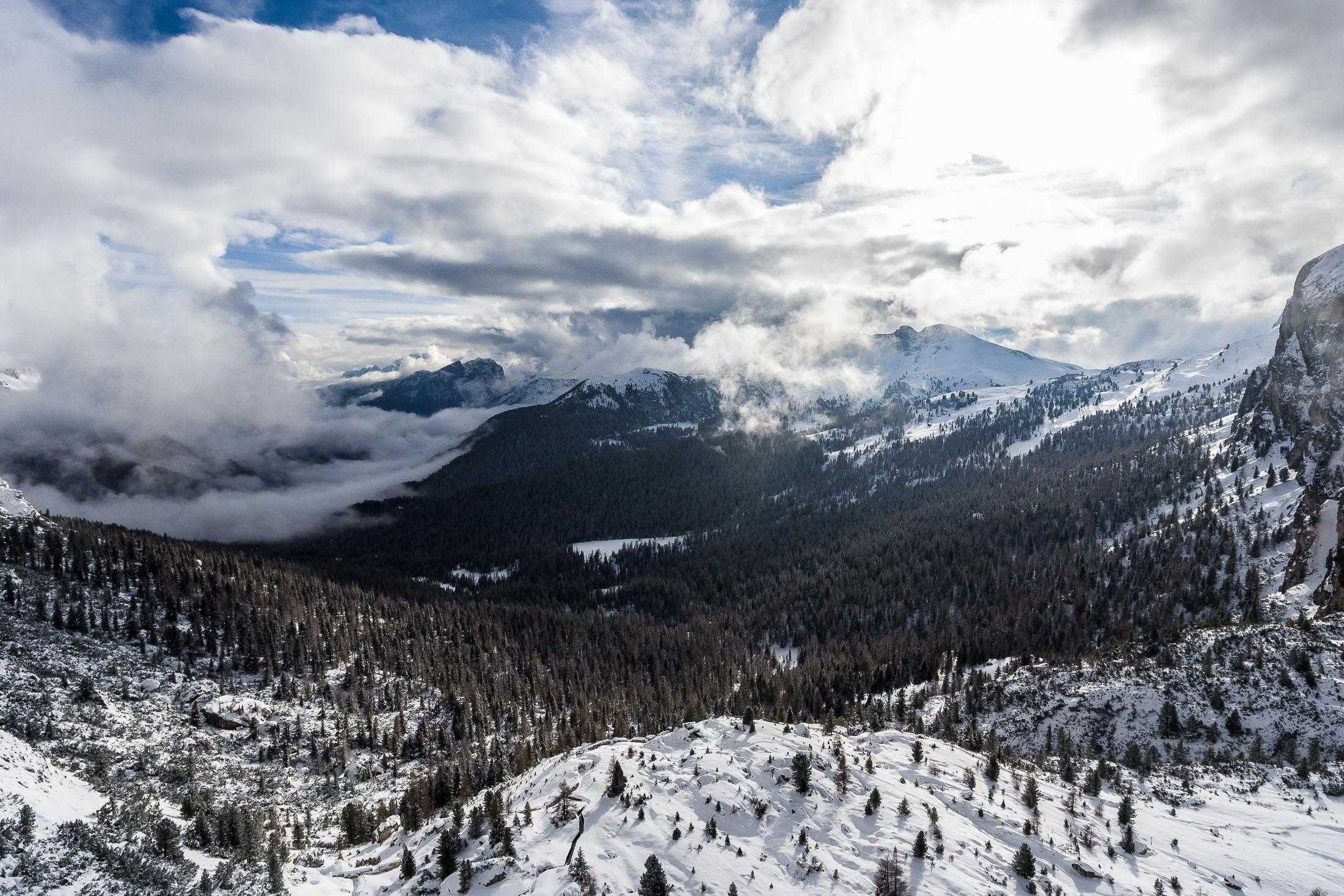 Above Dolomites, Italy