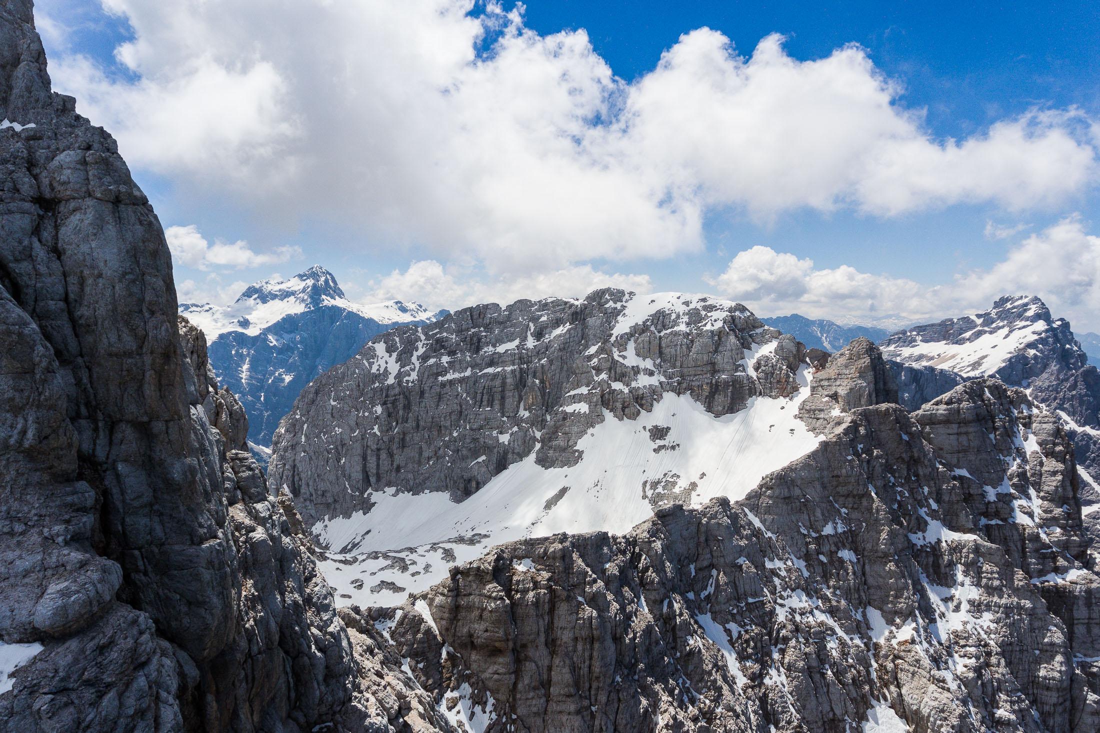 Julian Alps, Dolkova spica with Mt. Triglav in the back, Slovenia