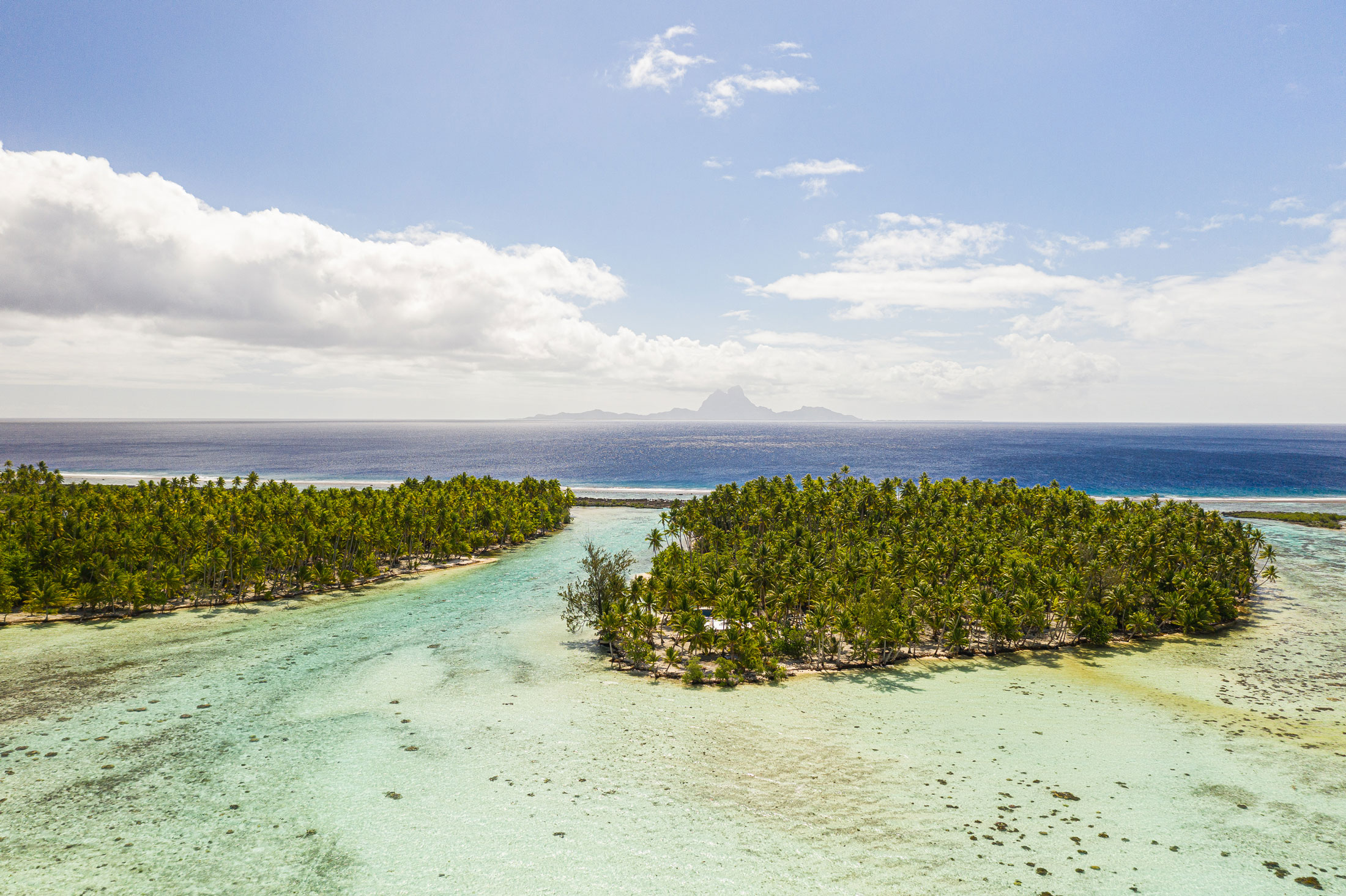 Tahaa with Bora Bora in the background, French Polynesia