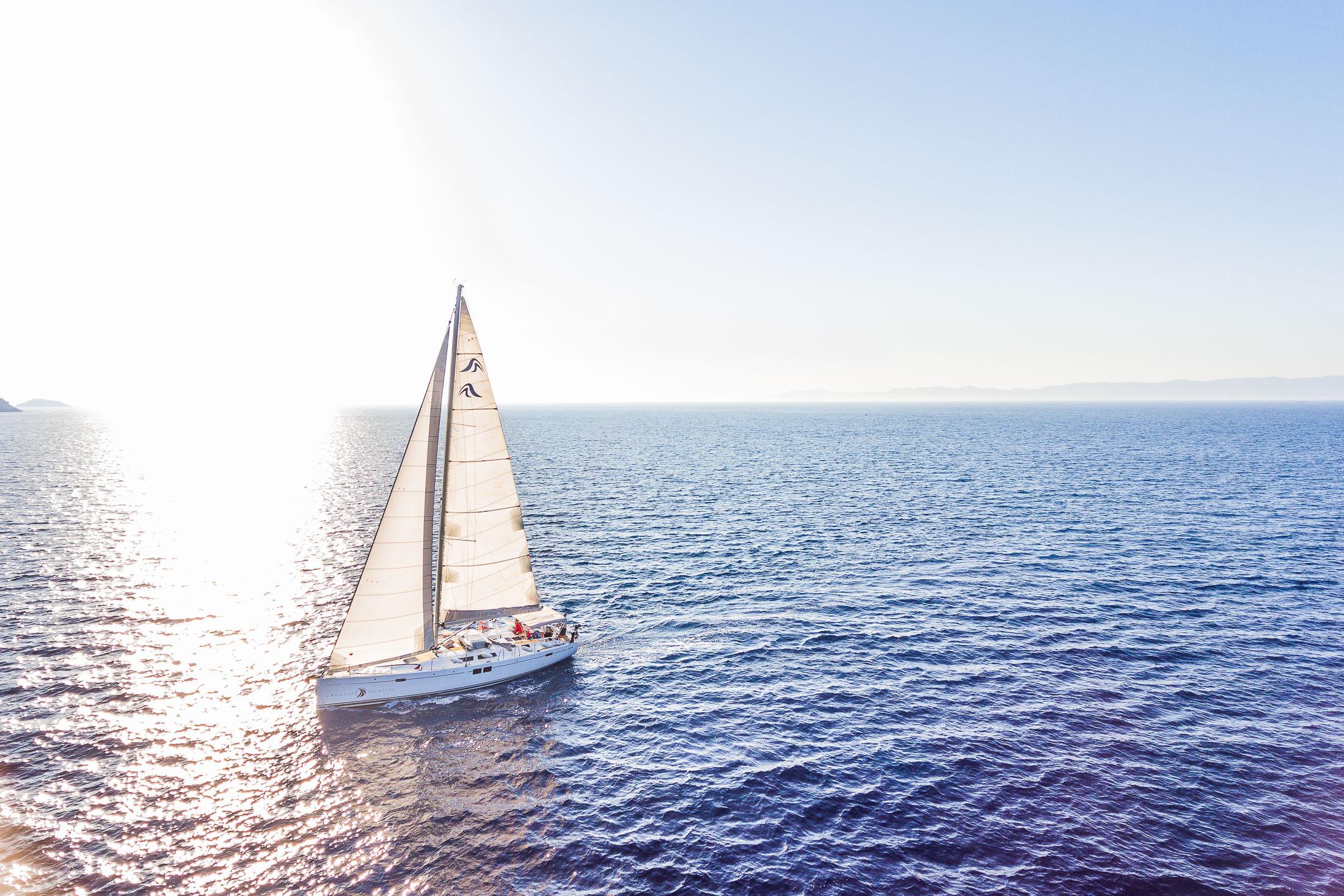 Hanse sailing boat, Croatia